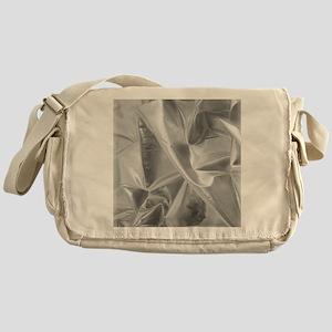 metalicSilverFabric_iPadCase Messenger Bag