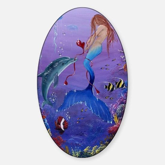 mermaidpullingonmyheartstrings Sticker (Oval)