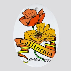 California (3) Oval Ornament