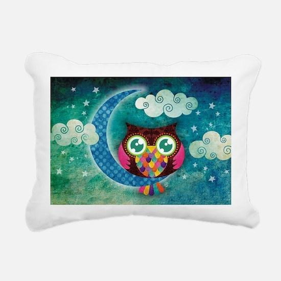 my crescent owl Rectangular Canvas Pillow