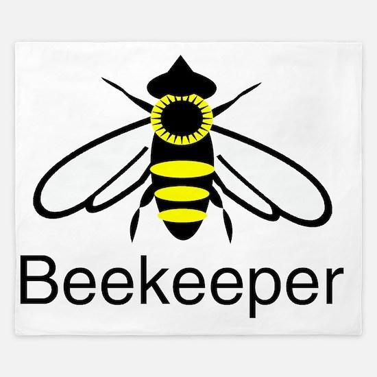 beekeeper bee dark King Duvet