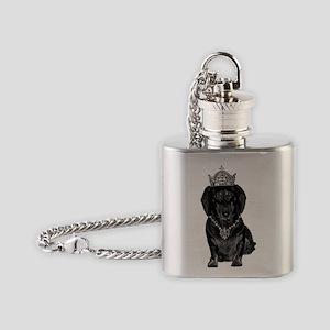 DaschundCrownJewels Flask Necklace