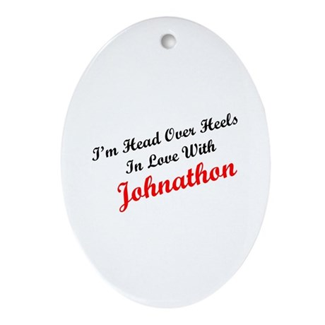 In Love with Johnathon Oval Ornament