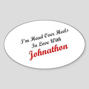 In Love with Johnathon Oval Sticker