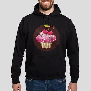 cupcake_cherry_sticker Hoodie (dark)