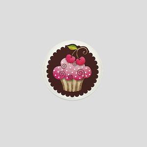 cupcake_cherry_sticker Mini Button