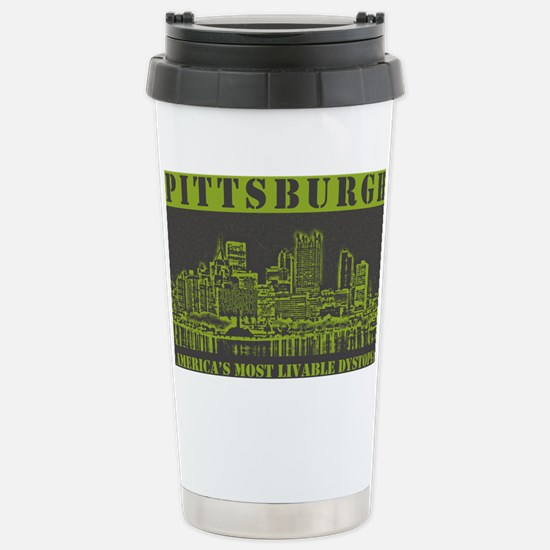 dystopia_sticker Stainless Steel Travel Mug