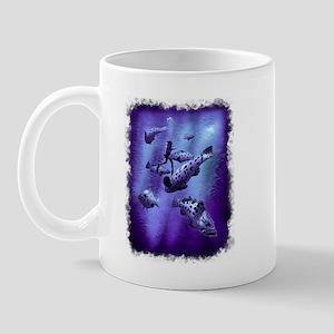 groupers and diver  Mug