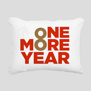 number 8 Rectangular Canvas Pillow