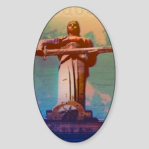 GA_MotherArmenia14x Sticker (Oval)