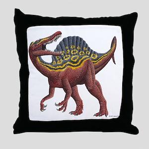 Spinosaurus aegypticus Throw Pillow