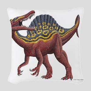 Spinosaurus aegypticus Woven Throw Pillow