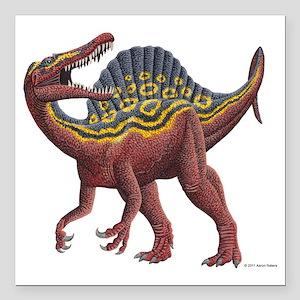 """Spinosaurus aegypticus Square Car Magnet 3"""" x 3"""""""