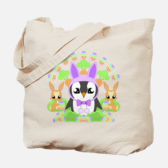 Hoppy Easterguin Tote Bag