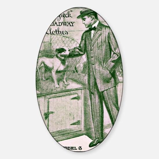 Sampeck Man and Dog Sticker (Oval)