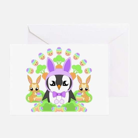 Hoppy Easterguin Greeting Card
