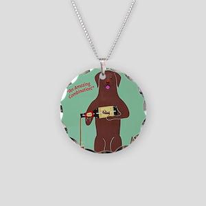 Labrador Cocolate Ale Necklace Circle Charm