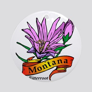 Montana (3) Round Ornament