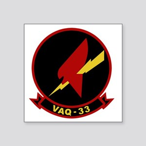 "VAQ-33 Firebirds Square Sticker 3"" x 3"""
