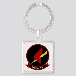 VAQ-33 Firebirds Square Keychain