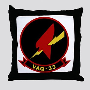 VAQ-33 Firebirds Throw Pillow
