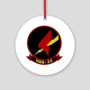 VAQ-33 Firebirds Round Ornament