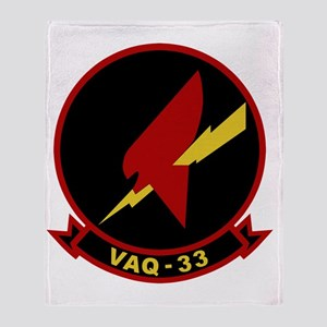 VAQ-33 Firebirds Throw Blanket