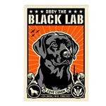 Obey the Black Lab! - Postcards