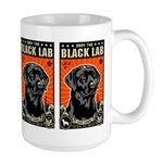 Obey the Black Lab! Large Mug