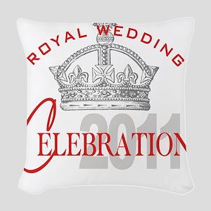 Royal Wedding Celebration 1A Woven Throw Pillow
