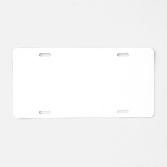 HockeyHeartbeatwhite Aluminum License Plate