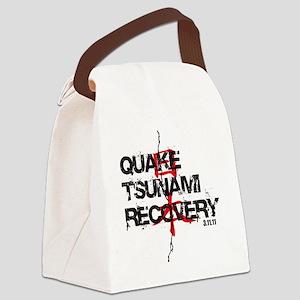 Quake Tsunami Recovery Canvas Lunch Bag