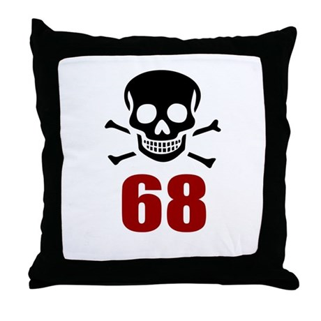 68 Birthday Designs Throw Pillow