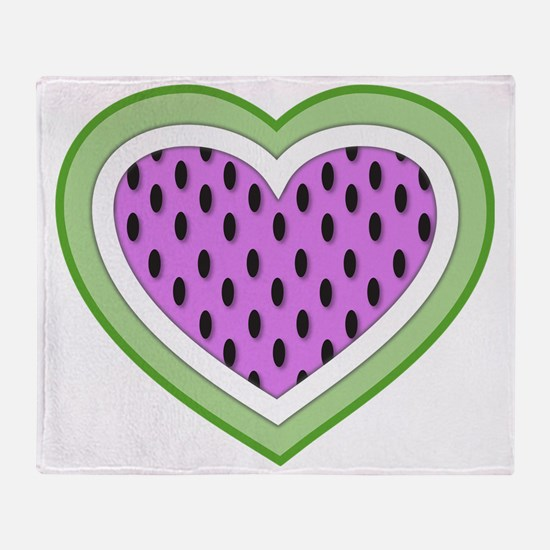 Watermelon Heart2 Throw Blanket