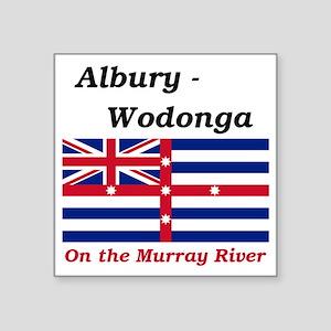 """Albury-Wodonga-RedMurray Square Sticker 3"""" x 3"""""""