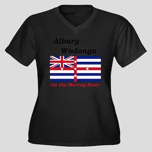Albury-Wodon Women's Plus Size Dark V-Neck T-Shirt