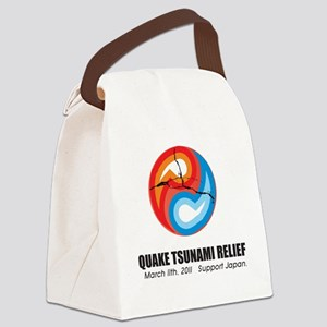 Quake Tsunami Relief Yin Yang Sup Canvas Lunch Bag
