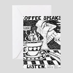 coffeeSpeaks_final Greeting Card