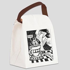 coffeeSpeaks_final Canvas Lunch Bag