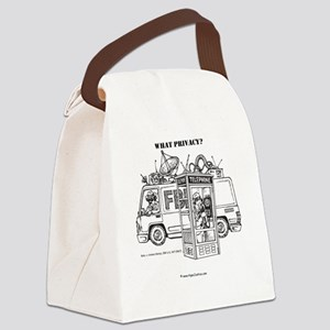 Privacy 8.5x8.5 Clock Canvas Lunch Bag