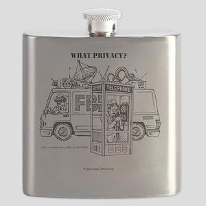 Privacy 8.5x8.5 Clock Flask