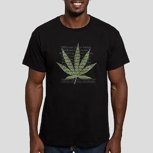hemp4victorybackblk Men's Fitted T-Shirt (dark)