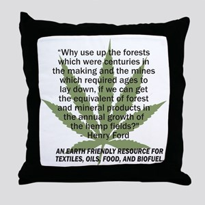 hemp4victorybackblk Throw Pillow