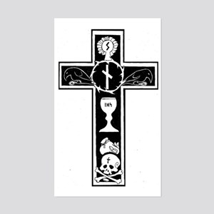 Totenkreuz Sticker (Rectangle)