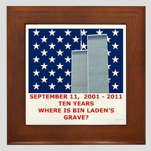 US_NAVAL_JACK_WHERE_IS_BIN_LADEN_With_ Framed Tile