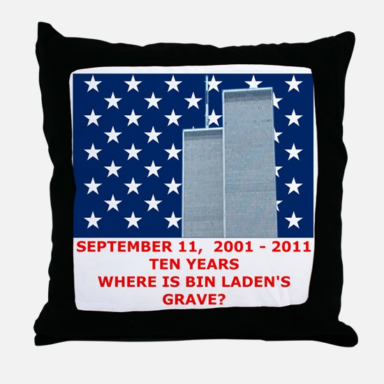 US_NAVAL_JACK_WHERE_IS_BIN_LADEN_With Throw Pillow