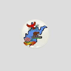 West Virginia (2) Mini Button