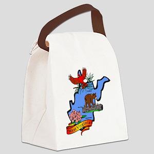 West Virginia (2) Canvas Lunch Bag