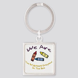 Brightest In The Box Square Keychain