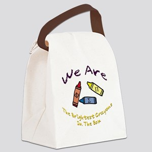 Brightest In The Box Canvas Lunch Bag